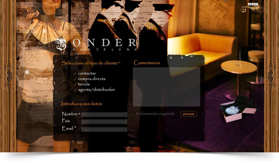 Agencia diseño web gráfica tiendas de ropa y moda ibiza barcelona lanzarote - web site bonder barcelona