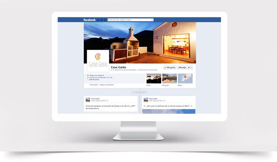Agencia diseño web gráfica para hoteles restaurantes ibiza barcelona lanzarote - facebook casa gaida