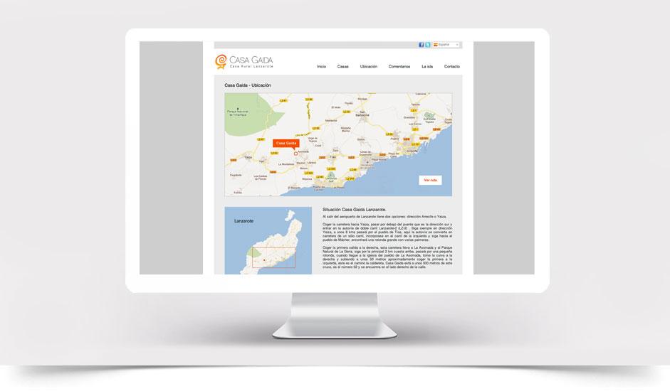 Agencia diseño web gráfica para hoteles restaurantes ibiza barcelona lanzarote - web site casa gaida