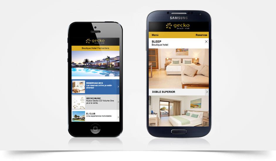 Agencia diseño web movil gráfica hoteles restaurantes ibiza barcelona lanzarote - web site gecko formentera