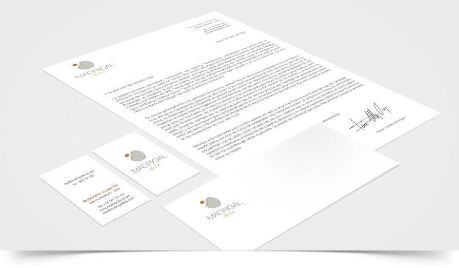 Agencia diseño gráfico imagen corporativa hoteles restaurantes ibiza barcelona lanzarote - cartelería madrigal ibiza
