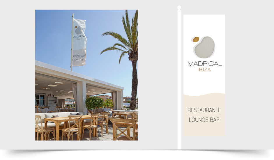 Agencia diseño gráfica corporativa hoteles restaurantes ibiza barcelona lanzarote - banderas madrigal ibiza