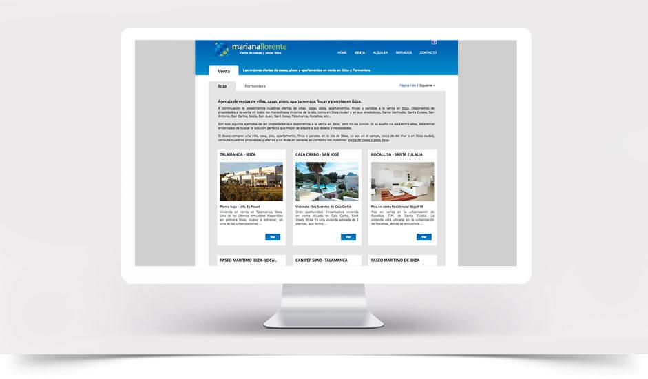Agencia diseño web gráfica para inmobiliarias ibiza barcelona lanzarote