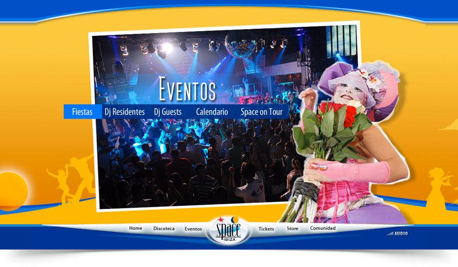 Agencia diseño web gráfica para discotecas ibiza barcelona lanzarote - web site space ibiza