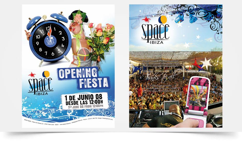 Agencia diseño gráfico para discotecas ibiza barcelona lanzarote - cartel opening space ibiza