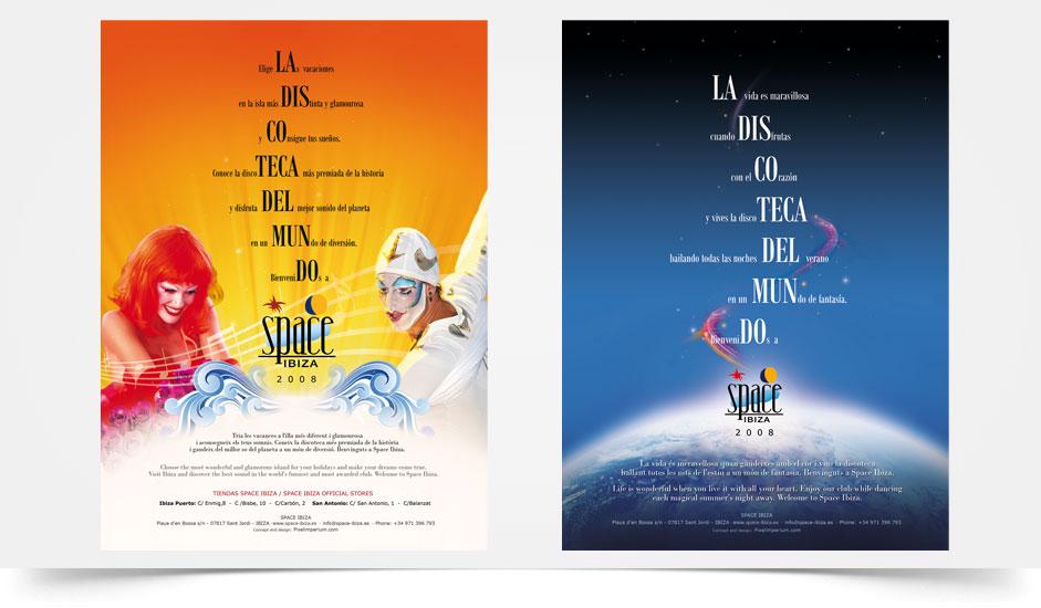 Agencia diseño gráfico para discotecas ibiza barcelona lanzarote - dossier space ibiza