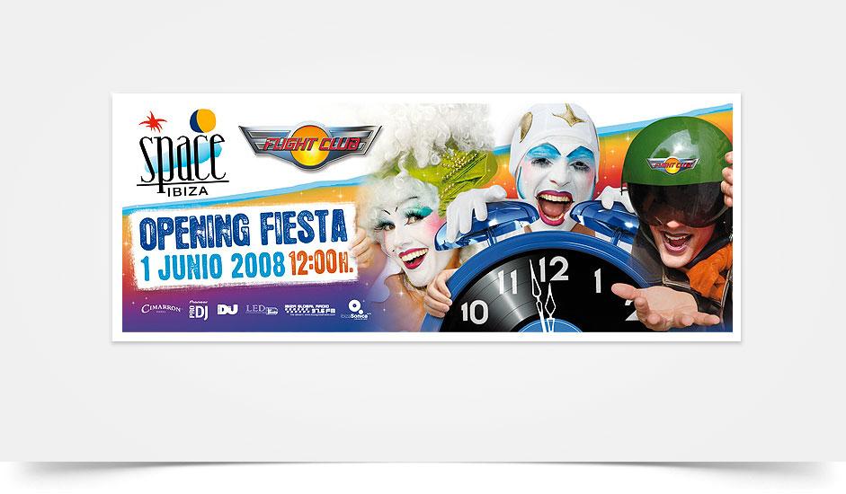 Agencia diseño gráfico para discotecas ibiza barcelona lanzarote - cartel space ibiza