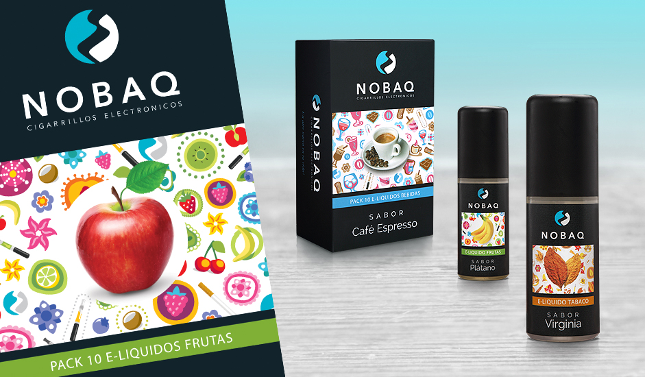 Branding diseño corporativo packaging nobaq e-líquidos cigarrillos electrónicos ibiza barcelona lanzarote
