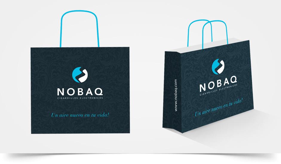 Branding diseño corporativo bolsos nobaq cigarrillos electrónicos ibiza barcelona lanzarote