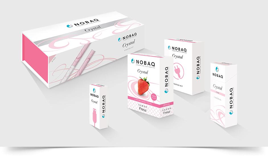 Branding diseño packaging nobaq e-liquidos cigarrillos electrónicos ibiza barcelona lanzarote