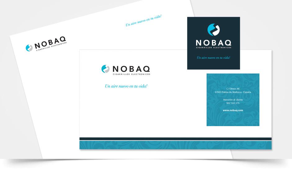 Branding diseño corporativo nobaq cigarrillos electrónicos ibiza barcelona lanzarote