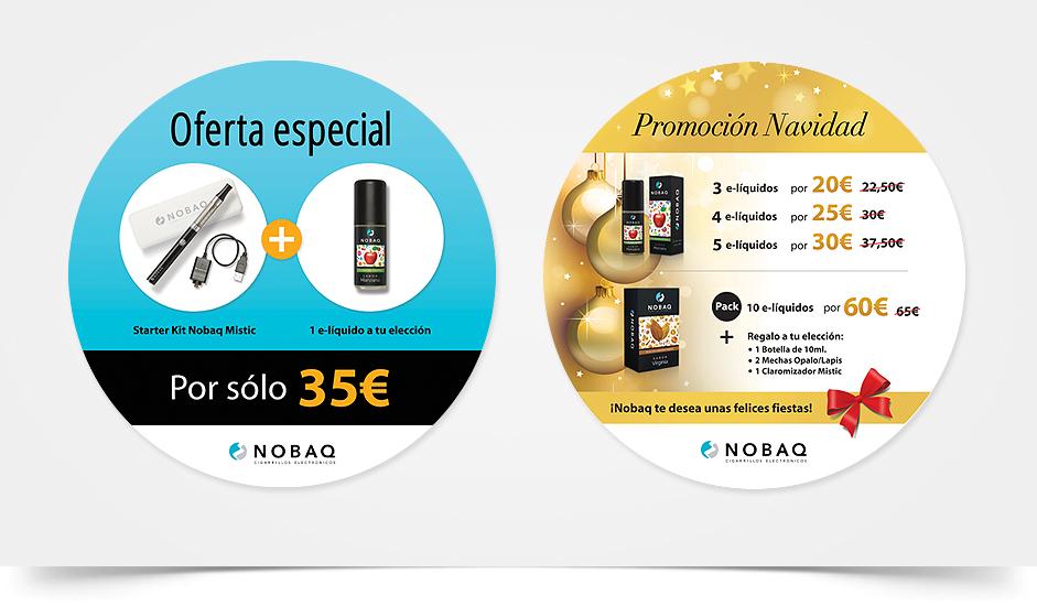 Branding diseño corporativo publicidad nobaq cigarrillos electrónicos ibiza barcelona lanzarote