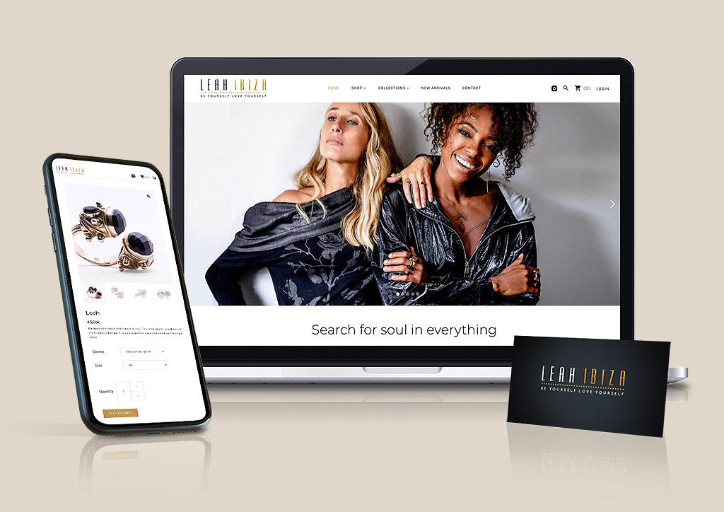 Diseño branding y shop online - Leah Ibiza